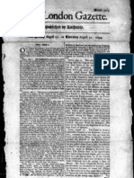 London Gazette, August 30, 1694