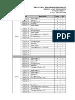 Jadwal Kuliah Genap 2015