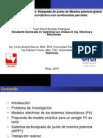 Avance Invetigacion Sistemas PV en condiciones de mismatcing