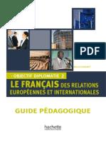 Francais Des Affaires Diplomatie 2 Guide Pédagogique