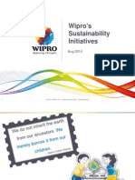 Wipro Sustainability Initiatives Presentation