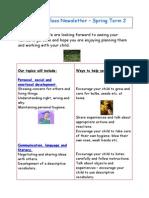 Reception Class Newsletter Spring 2 2015