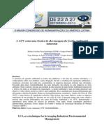 A ACV como uma técnica de alavancagem da Gestão Ambiental industrial