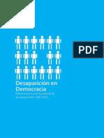 Informe Desaparición en Democracia
