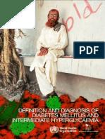 WHO IDF Definition Diagnosis of Diabetes