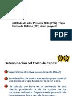 Valor Presente Neto (VPN)- Tasa Interna de Retorn de Un Proyecto (TIR)-Periodo de Recuperacion - Eficiencia de La Inversion y Relacion BC