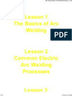 Lesson 1 - Basics of Arc Welding