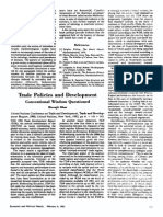 Trade Policies and Development