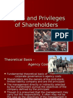 Rights and Privileges of Shareholders