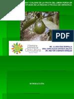 Fenologia y Calidad de Fruta
