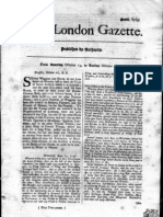 London Gazette, October 18, 1748