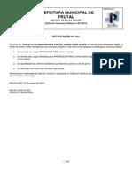 1ª Retificação Edital de Abertura Concurso 001 2014 PMF