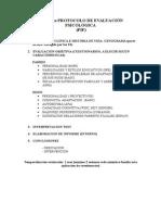 Protocolo de Evaluación Psicológica