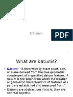 Tolerance of Datum