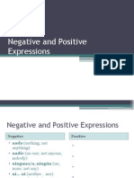 negative and positive expressions spiii
