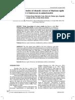 Pharmacological studies of ethanolic extracts of Maytenus rigida