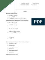 Examen Tercer Bimestre Segundo