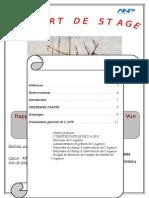 Rapport de Stage - ANP - Service Approvisionnement Et Gestion Des Marchés