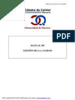 Manual de Gestión de La Calidad - U[2]. de Navarra
