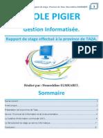 Rapport de Stage - Province Taza - Présentaion (Initiation)