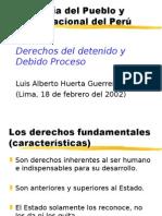 Derechos Del Detenido y Debido Proceso