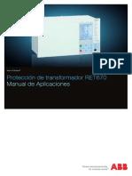 1MRK504089-UES C Es Manual de Aplicaciones Proteccion de Transformador RET670
