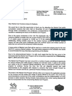 Eviction Letter - Update on Future of Market Cart Program 2014