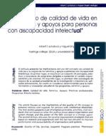 el concepto de calidad de vida en los servicios y apoyos para personas con discapacidad intelectual*
