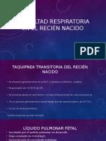 Dificultad Respiratoria en El Recién Nacidosilvia