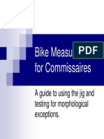 Bike Measure for Commissaire s 101