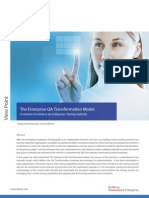 Enterprise QA Transformation Model by Infosys
