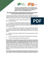 Contra argumentos de ARTICLE 19, México Infórmate y la Red en Defensa de los Derechos Digitales a los presentados en febrero de 2015 por el Consejero Jurídico de Presidencia respecto al proyecto de dictamen de la Ley General de Transparencia y Acceso a la información pública.