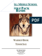 Tenor Saxophone Warm Up Book