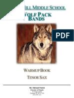 Tenor Saxophone Warm Up Book
