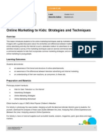 Lesson Online Marketing Kids Strategies Techniques