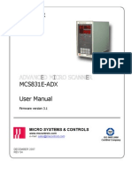 Mcs831e-Adx User Manual