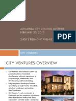 City Ventures' proposed development