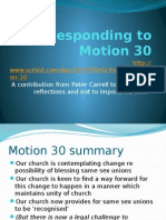 Responding to Motion 30