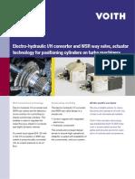 Electro-Hydraulic I/H Converter and WSR Way Valve,