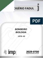Biologia - Lista de Exercícios 1 (Professor Rodrigo)