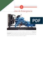 Definicion Plantas de Emergencia