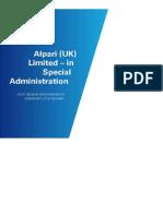 Joint Special Administrators' Proposals on Alpari UK