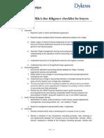 Thornton M&a Due Diligence Checklist