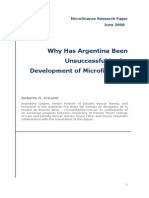 Why Has Argentina Been Unsuccessful in the Development of Microfinance?