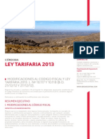 Ley Tarifaria Cordoba 2013