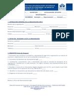 Formulario Inscripcion Organizaciones Defensoras de Las Victimas