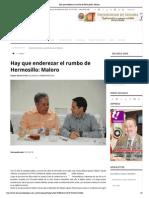18-02-15 Hay Que Enderezar El Rumbo de Hermosillo_ Maloro