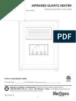 Life Pro Infared Quartz Heater Manual