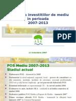 Investitii pentru mediu  2007 - 2013.ppt