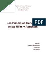 Principios Generales de Rifa y Apuestas Prof Valecillos